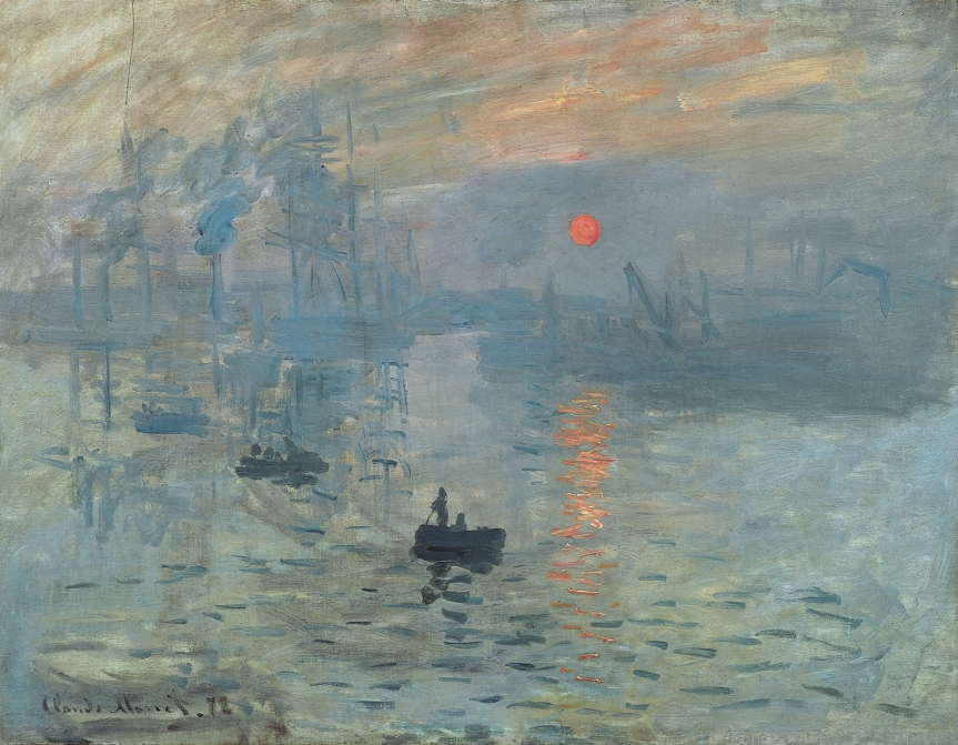 10 Monet Impression Sunrise 1872